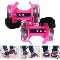 Wembley Toys Street Gliders Adjustable Roller Skates, LED Light-up Wheels (2 Wheels) for Adults & Kids (Pink)