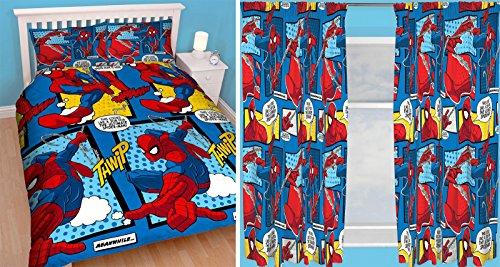Spiderman webhead doppio copripiumino e 167,6x 182,9cm tende in coordinato
