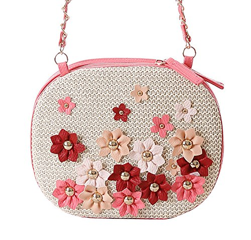Tissage Tonwhar-Girls Petit sac de plage Sac bandoulière Rose - Rose