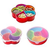 Boodtag Boîte Alimentaire en Plastique avec Couvercle Boîte Rangement Distributeur Snacks avec Compartiments Amovibles…