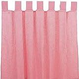 Sugarapple Dekoschal, Gardine, Vorhang (über 35 Farben wählbar) mit Schlaufen aus Baumwolle für Kinderzimmer und Babyzimmer. 2 Schals, Breite 143 cm, Länge 145 cm, Karo rot