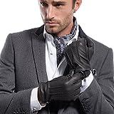Hirschleder MATSU Herren Winter Warm gefütterte Handschuhe aus 100% Kaschmir