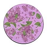 Flieder Kreis Shaggy Teppich Runde Form für Schlafzimmer Wohnzimmer Teppich/Fußmatte/Anti-Rutsch