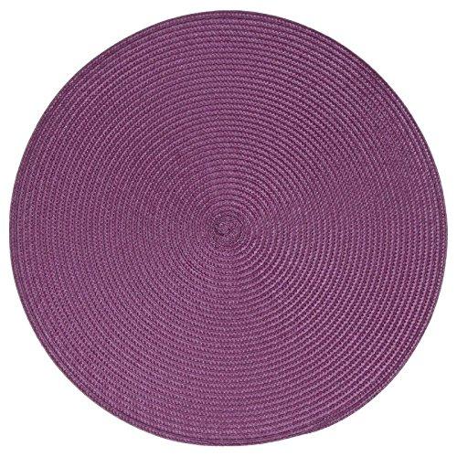 Paris Prix - Set De Table Rond 38cm Violet