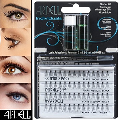 Ardell cils individuels büschel S/M/L Combo Pack + Colle + Remover Kit de démarrage # 503