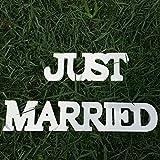 Allbusky Herr und Frau Zeichen Geschenk Hölzerne Buchstaben für Empfang Zeremonie Hochzeit Dekorationen Gegenwart (Just Married)
