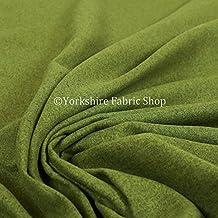 Efecto de lana suave Plain calidad ligero chenilla decoración tapicería tela, Green Grass, 10 Metros