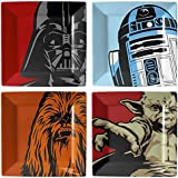 Star Wars SW00877 - Pack de 4 platos, multicolor