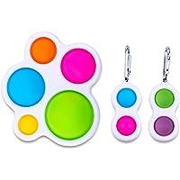 SerDa-Run 3 Pièces de Simple Dimple Fidget Toy Pop It Jouets Sensoriels à Fossettes Simples Jouets Anti-Stress pour Les…