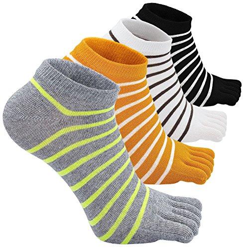 Fünf Finger, Die (Sneaker Socken Damen Zehensocken Sport socken aus Baumwolle Fünf Finger Läufen socken lässige Sportschule Socken, Mehrfarbig-02, EU Damen Schuhgröße: 35-41)