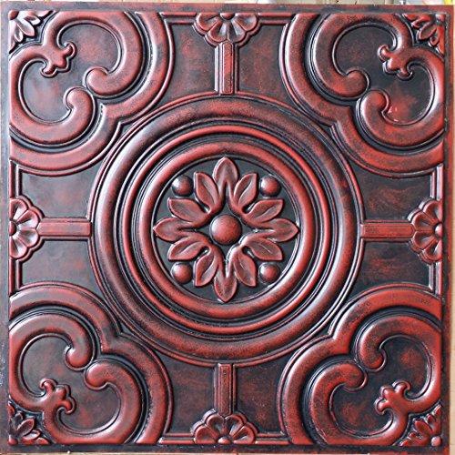 techo-tile-2-x2-lata-sintetica-acabados-arcaica-rojo-3d-alivio-club-arte-decoracion-de-pared-paneles