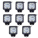 MCTECH 8 X 27W Quadrat LED Offroad Flutlicht...