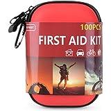 TIANBO FIRST 100 Pezzi Kit di Pronto Soccorso, Compatto Professionale Medico Kit di Primo Soccorso, Auto, Campeggio, Escursio