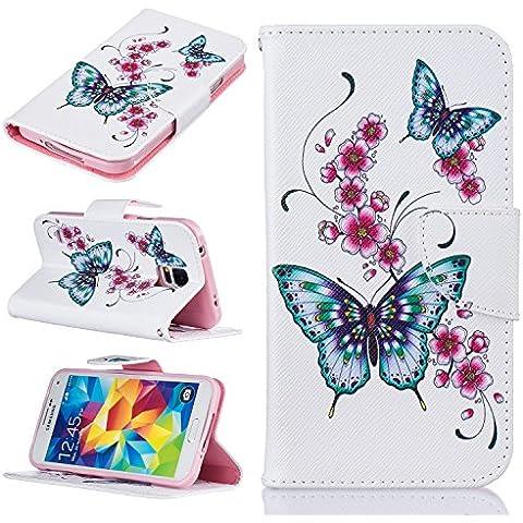Meet de Fiore di farfalla Per Samsung Galaxy S5 Caso,