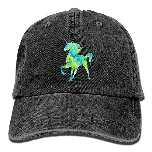 Blue Unicorn Polo Horse Snapback Unisex Adjustable Baseball Cap Dad Hat
