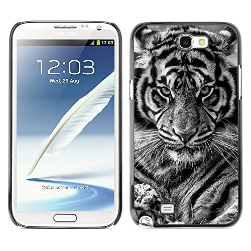 Plastic Shell Protective Case Cover    Samsung Galaxy Note 2 N7100    Cub Baby Black White Cat @XPTECH (Samsung Galaxy Stellar Hard Case)