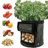 willkey 2 Pcs Sacs de Plantation de Jardin Sacs à Plantation de Pommes de Terre pour Faire Pousser des Légumes Grow Bag Pot Planter avec accès Rabat et des Poignées Robustes (7 gallons)