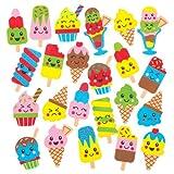 Baker Ross Aufkleber aus Moosgummi mit verschiedenen Eiscrememotiven für Kinder zum Dekorieren und Verzieren von Karten, Sommercollagen und Anderen Bastelarbeiten (120 Stück)