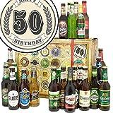 50. Geburtstag | Präsentkorb 24x Bier der Welt und D