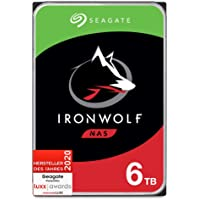 Seagate IronWolf NAS, interne Festplatte 6 TB HDD, 3.5 Zoll, 7200 U/Min, 256 MB Cache, SATA 6 Gb/s, silber, inkl. 3…
