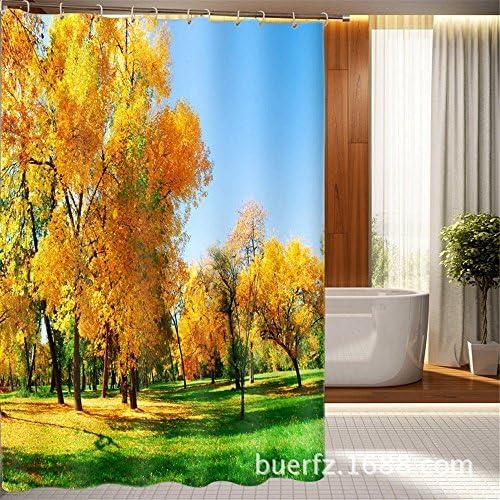 Tenda da bagno impermeabile in poliestere spessa, altezza larghezza 180cmx altezza spessa, 200cm edc818
