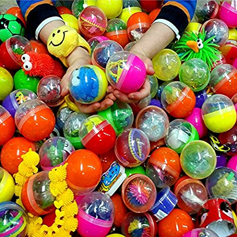 German Trendseller® - 24 x capsules surprise extra-grande┃ remplie avec petits jouets ┃pinata ┃ pochette cadeau ┃ l'anniversaire d'enfant ┃ Party Loot
