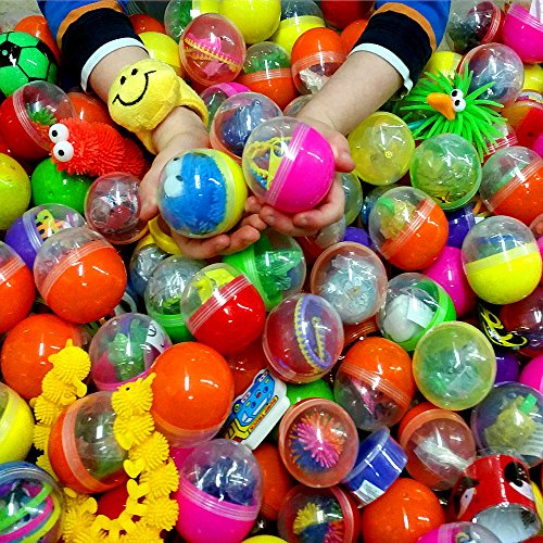 Preisvergleich Produktbild German Trendseller® - 24 x Große Gefüllte Spielzeug - Kapseln XXL  Mitgebsel  Kindergeburtstag  24 x Spielzeug Groß Mix