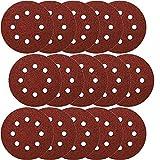 50x Klettscheiben Ø 115mm 8 Loch Körnung 400 Klett Schleifpapier Exzenterschleifer Schleifscheiben Klettschleifscheiben Klettbefestigung z.B. für AEG, Black&Decker, Bosch, Einhell, Kress