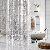 ToHa PVC Guijarro Translúcido Revestimiento de cortina de ducha,Impermeable y Resistente al Moho Para Baño,180cmx200cm