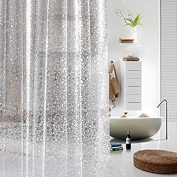 amazonbasics rideau de douche transparent en pvc 180 x 200 cm cuisine maison. Black Bedroom Furniture Sets. Home Design Ideas