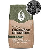 The Green Olive Firewood Company Holzkohle in Restaurantqualität, 8 kg, naturfarben