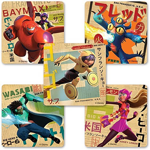 Big Hero 6 Stickers - Birthday Party Supplies and Favors - 75 per Pack by SmileMakers - Big 6 Hero Party Supplies