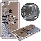 Voguecase® Para Apple iPhone 5C ,Líquido Dinámico Arena Movediza Stars Funda Carcasa Duro Tapa Case Cover (Plata-PA) + Gratis aguja de la pantalla stylus universales