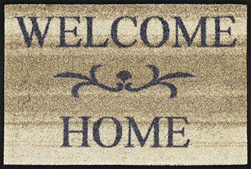 wash+dry Fußmatte Welcome Home beige 40 x 60 cm waschbare Fußmatte