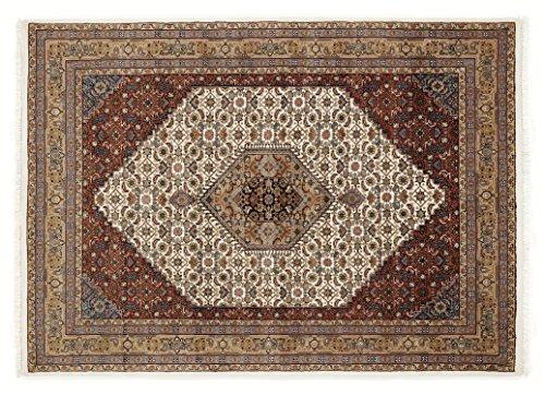 BADOHI BIDJAR echter klassischer Orientteppich handgeknüpft in creme-beige, Größe: 250x300 cm -