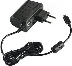 EasyAcc® 5V 2A Micro USB Ladegeräte AC Aufladegerät EU Adapter für Samsung Galaxy S6 S6Edge S5 S4 S3 Tablet und andere Android Devices, Powerbank, Bluetooth Lautsprecher, MP3 MP4 GPS, Schwarz