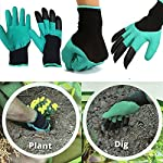 Weight: 70-100g, brand name: our cherish, model number: garden gloves for digging planting, usage: gardening, outer material: rubber, thickness: medium, material: rubber+polyester + abs plastic, unit type: pair, package weight: , package size: