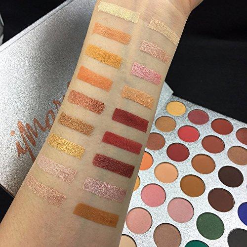 Paleta de sombras de ojos Beauty Glazed, mate y con purpurina, colores metálicos