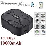 GPS Tracker , 10000MAH GPS Ortung, Wasserdicht Echtzeit tracking GPS Locator, Professional Anti-verloren ,GPS Alarm Car…