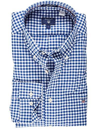 Gant Men's The Poplin Gingham Check Casual Shirt