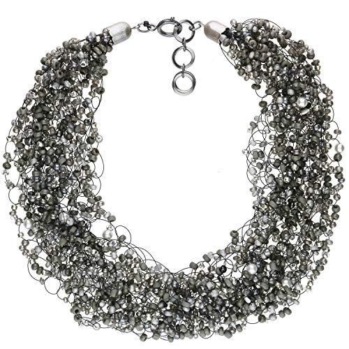 langani Kette Grau Damen Halskette Collier Handmade Since 1952