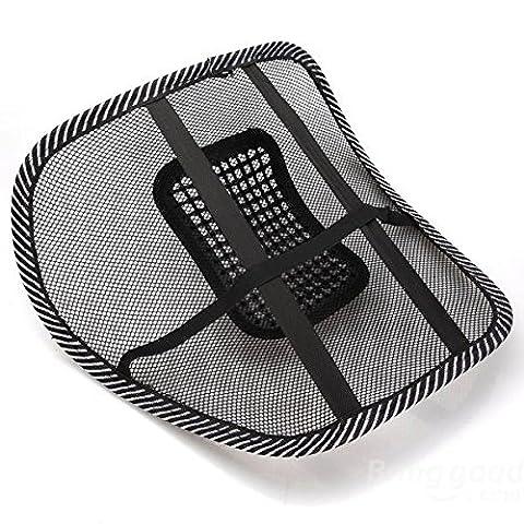 mark8shop Autositz Stuhl Massage Rücken Lendenwirbelstütze Mesh Belüften Kissen Pad