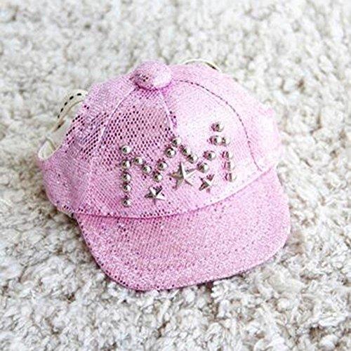 WINNERUS New Haustier Zubehör Haustier Barette Mütze Haustier Hund Hut Hut Teddy VIP Hut Schöne Form (S, pink) -