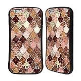 Head Case Designs Rose-Gold Meerjungfrau Waage Muster Hybrid Hülle für iPhone 6 Plus/iPhone 6s Plus
