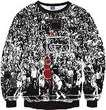 Pizoff Unisex Hip Hop Sweatshirts mit 3D Digital Print 3D Muster Jordan Basketball Jumper lore Y1759-F8-S