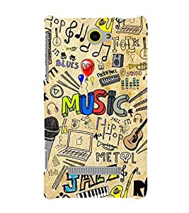 Takkloo for music lover music instruments,colourful symbols, trendy sign) Printed Designer Back Case Cover for HTC Windows Phone 8S :: HTC 8S