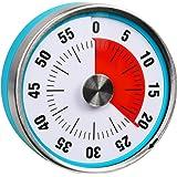 Searon Minuteur visuel rond de 60minutes, 7,8cm, pour enfants avec autisme, cuisine, enseignants, salle de classe, réunion