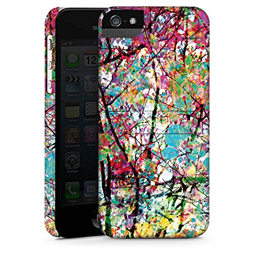 Apple iPhone X Silikon Hülle Case Schutzhülle Blätter Bunt Frühling Premium Case StandUp