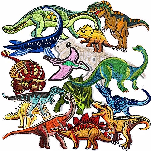 15 parches dinosaurio diseño dragón ropa, planchar