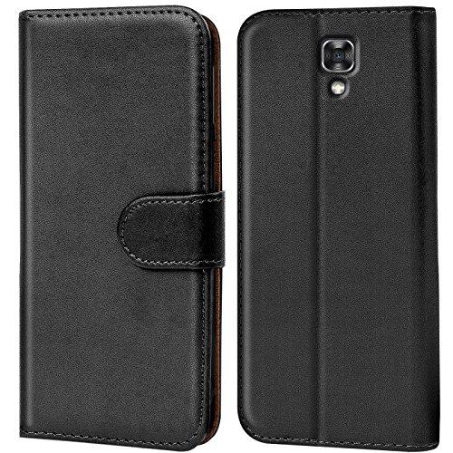 Verco X Screen Hülle, Handyhülle für LG X Screen Tasche PU Leder Flip Case Brieftasche - Schwarz